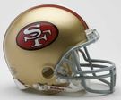 Joe Montana - Autographed San Francisco 49ers Throwback Riddell Mini Football Helmet