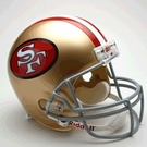 Joe Montana - Autographed San Francisco 49ers Throwback Riddell Full Size Deluxe Football Helmet