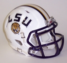 LSU Tigers White Speed Revolution Riddell Mini Football Helmet