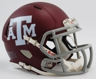Texas A&M Matte Finish Speed Revolution Riddell Mini Football Helmet
