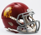 USC Trojans Speed Revolution Riddell Mini Football Helmet