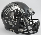 Northwestern Cat Head Matte Black Finish Speed Revolution Riddell Mini Football Helmet