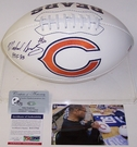 Mike Singletary - Autographed Chicago Bears Full Size Logo Football - PSA/DNA