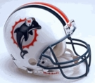 Miami Dolphins Autographed Full Size On Field Authentic Proline Helmets