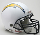 San Diego Chargers Autographed Full Size On Field Authentic Proline Helmets
