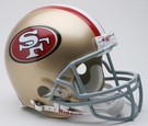San Francisco 49ers Autographed Full Size On Field Authentic Proline Helmets