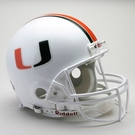 Miami Hurricanes Autographed Full Size On Field Authentic Proline Helmets