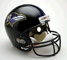 Baltimore Ravens Autographed Full Size Riddell Deluxe Replica Football Helmets