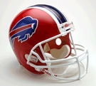 Buffalo Bills Autographed Full Size Riddell Deluxe Replica Football Helmets