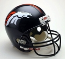 Denver Broncos Autographed Full Size Riddell Deluxe Replica Football Helmets