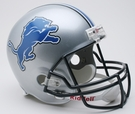 Detroit Lions Autographed Full Size Riddell Deluxe Replica Football Helmets