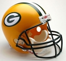 Green Bay Packers Autographed Full Size Riddell Deluxe Replica Football Helmets