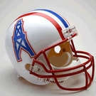 Houston Oilers Autographed Full Size Riddell Deluxe Replica Football Helmets
