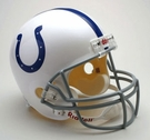 Indianapolis Colts Autographed Full Size Riddell Deluxe Replica Football Helmets