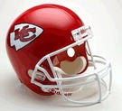 Kansas City Chiefs Autographed Full Size Riddell Deluxe Replica Football Helmets