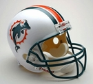 Miami Dolphins Autographed Full Size Riddell Deluxe Replica Football Helmets