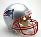 New England Patriots Autographed Full Size Riddell Deluxe Replica Football Helmets