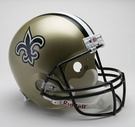 New Orleans Saints Autographed Full Size Riddell Deluxe Replica Football Helmets