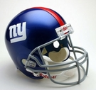 New York Giants Autographed Full Size Riddell Deluxe Replica Football Helmets