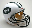 New York Jets Autographed Full Size Riddell Deluxe Replica Football Helmets