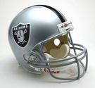 Oakland Raiders Autographed Full Size Riddell Deluxe Replica Football Helmets
