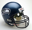 Seattle Seahawks Autographed Full Size Riddell Deluxe Replica Football Helmets