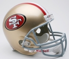 SF 49ers Autographed Full Size Riddell Deluxe Replica Football Helmets