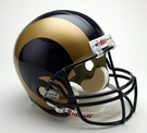 St Louis / LA Rams Autographed Full Size Riddell Deluxe Replica Football Helmets