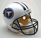 Tennessee Titans Autographed Full Size Riddell Deluxe Replica Football Helmets