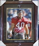Mike Alstott  Autographed Tampa Bay Bucs Framed 16x20 photo