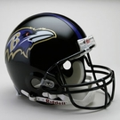 Baltimore Ravens Riddell Authentic NFL Full Size On Field Proline Football Helmet