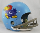 Kansas Jay Hawks 1964 Throwback 2-Bar TK Riddell NFL Full Size Football Helmet