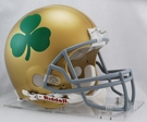 Notre Dame Fighting Irish (Shamrock) Riddell Authentic NCAA Full Size On Field Proline Football Helmet