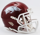 Arkansas Razorbacks Matte Finish Speed Revolution Riddell Mini Football Helmet
