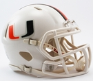 Miami Hurricanes Speed Revolution Riddell Mini Football Helmet