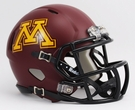Minnesota Gophers Matte Finish Speed Revolution Riddell Mini Football Helmet
