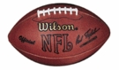 Warren Moon - Autographed Official Wilson NFL Leather Game Full Size Football
