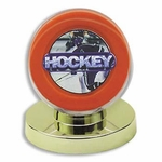 Gold Base Collector Safe Hockey Puck Holder