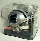 Economy Mini Helmet Display Case - w/Mirror Back