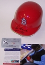 Lou Brock - Autographed Batting Mini Helmet  - St. Louis Cardinals - PSA/DNA