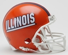 Illinois Autographed Mini Helmets