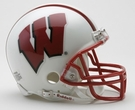 Wisconsin Badgers Autographed Mini Helmets