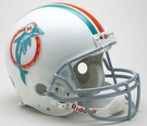 Miami Dolphins 1973-1979 Throwback Riddell Authentic NFL Full Size On Field Proline Football Helmet