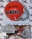Andy Dalton - Riddell - Autographed Mini Helmet - Cincinnati Bengals Throwback - PSA/DNA
