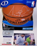 Scottie Pippen - Autographed Official Spalding NBA Basketball - PSA/DNA