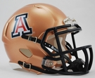 Arizona Wildcats Gold Copper Speed Revolution Riddell Mini Football Helmet