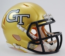 Georgia Tech Yellow Jackets Speed Revolution Riddell Mini Football Helmet