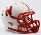 Nebraska Cornhuskers Speed Revolution Riddell Mini Football Helmet