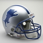 Detroit Lions 1983-2002 Throwback Riddell Authentic NFL Full Size On Field Proline Football Helmet