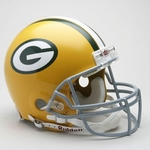 Green Bay Packers 1961-1979 Throwback Riddell Authentic NFL Full Size On Field Proline Football Helmet